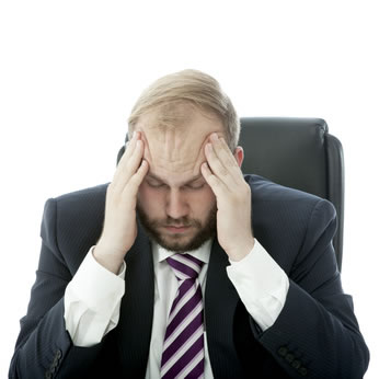 Kopfschmerz am Arbeitsplatz